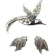 "CLEARANCE: Sarah COVENTRY ""Bird of Paradise"" Pin Earrings Set"