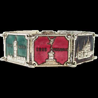 Vintage Enamel Souvenir Bracelet LONDON