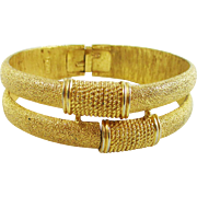 Terrific TRIFARI by-pass clamper bracelet
