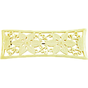 Hand Carved Bone Floral Pin