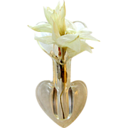 Fun Lucite 'FloraPin' vase pin. Add your flower!