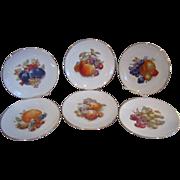 6 Schumann Arzberg Bavaria Germany Fruit & Nut Decorated Plates