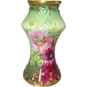 Antique Royal Bonn Hand Painted Poppy and Daisy Vase, 6""
