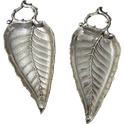 Two Cartier Sterling Silver Leaf Dish Trophies for Island Heights Yacht Club (IHTC) 1920 & 1929