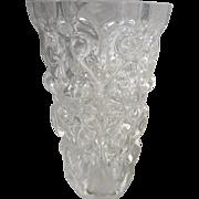 Tall Orrefors Sven Palmqvist Textured Blown Art Glass Vase, P 4173-212