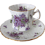 Hammersley Victorian Violets Countryside Series English Bone China Cup and Saucer