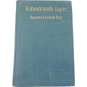 Antique 1916 Book Rabindranath Tagore by Basanta Koomar Roy