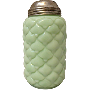 Antique Consolidated Glass Green Milk Glass Cone Sugar Shaker Caster Muffineer