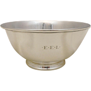 "Antique Tiffany & Co Sterling Silver 8"" Revere Style Bowl, Makers Mark, 15ozt"