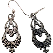 Silver Earrings Nice Patina