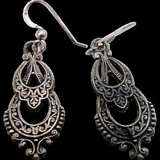 Silver Earrings Nice Patina