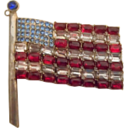 Large Vintage American Flag Pin