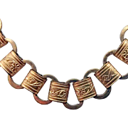 Antique 28 Inch Book Chain Necklace