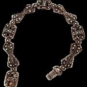 Sterling-Marcasite Vintage Bracelet