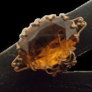 Vintage Costume Ring in Topaz