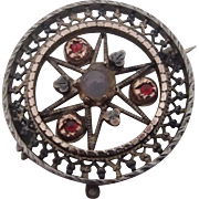 Antique - Victorian Pin w red & Golden Highlights