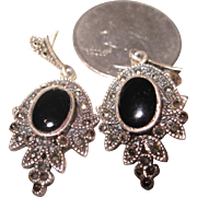 Sterling Marcasite Dangling Earrings