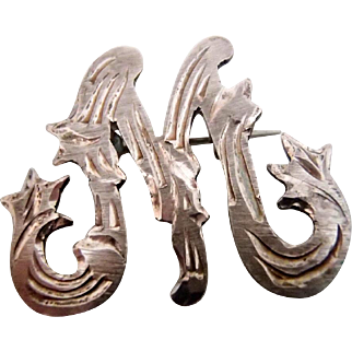 Monogram M for a Victorian Lady