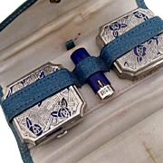 Blue Rose Vanity Case by Lanchere