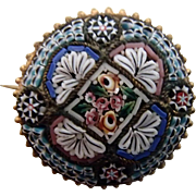 Truly Micro Mosaic Victorian Pin