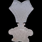 Czech Cut Glass Perfume - Clear & Pale Blue