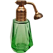 Art Deco Green Atomizer Perfume
