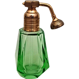 Art Deco Green Atomizer Perfume
