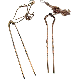 Pair of Hair Pins for Granny Glasses