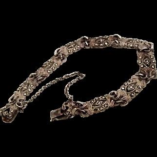 Sterling Bracelet w Marcasites - Germany