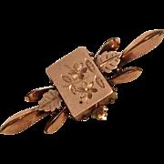 Rose Gold Filled Victorian Bar Pin