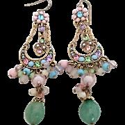 Amazing Vintage Pastel Earrings
