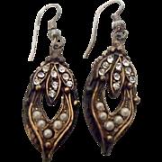 Lovely Vintage Earrings w Rhinestones & Synthetic Pearls