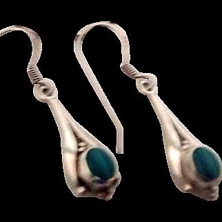 Dainty Sterling, Marachite Earrings