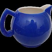 Czech Large Cream Pitcher - Blue