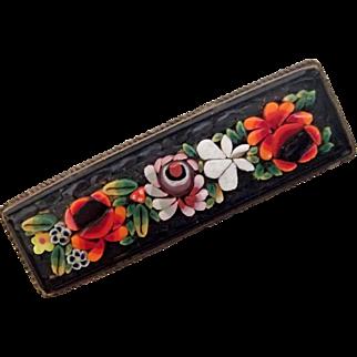 Multi-Colored Mosaic Bar Pin