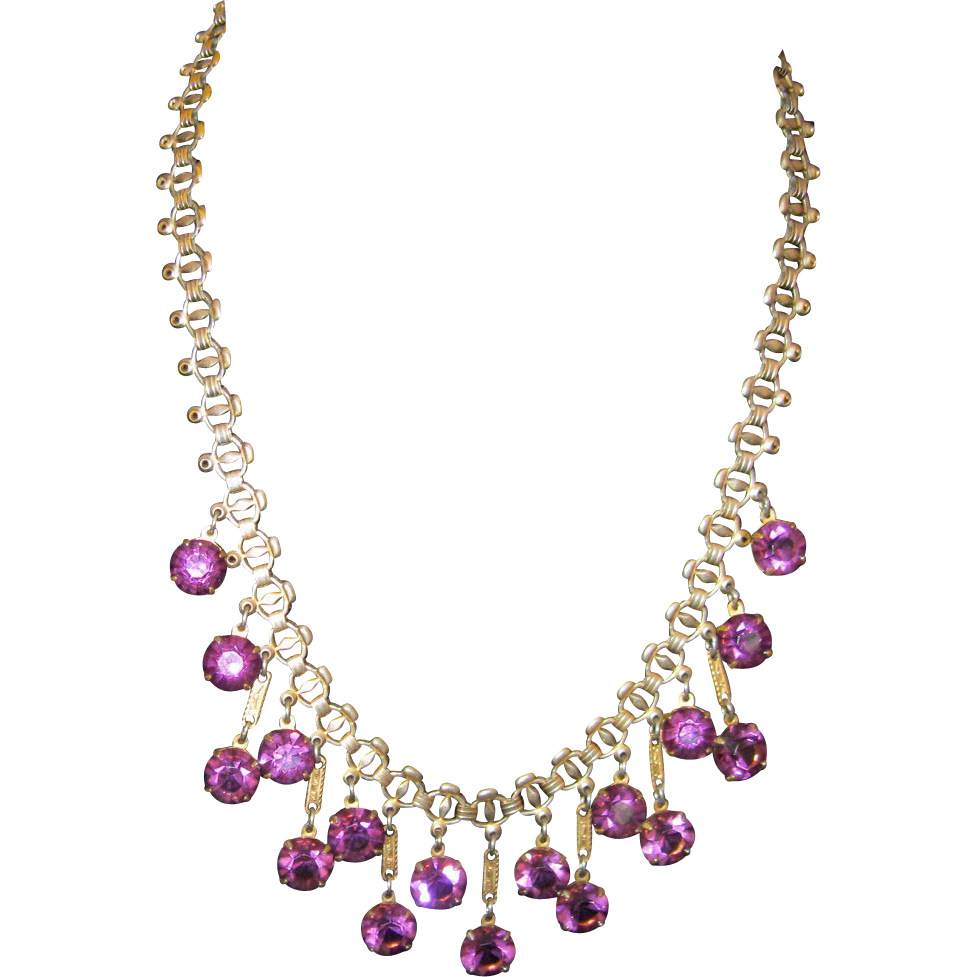 amethyst crystal necklace - photo #31