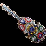 Large Mosaic Pin -  Music Instrument