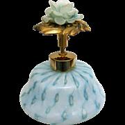 50's Aqua Glass Perfume w Pump