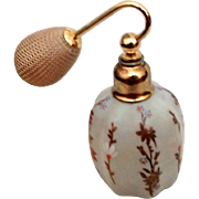 Czech Vintage Opal Glass Atomizer Perfume