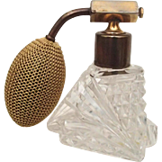 Czech Cut Clear Glass Perfume