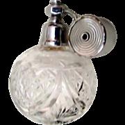 Vintage French Cut Glass Perfume w Marcel Franck Atomizer