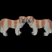 Pair of Staffordshire Saint Bernard Dogs