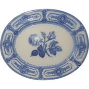 Ridgway Italian Rose Pattern Flow Blue Platter