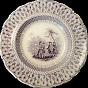 W PENNS TREATY Soup Plate By Thomas Godwin
