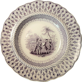 W PENNS TREATY Soup Plate By Thomas Godwin