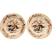 Pair of Derby Porcelain Plates in Imari Colors
