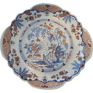 Ridgway Ironstone Dessert Plate in Imari Colors