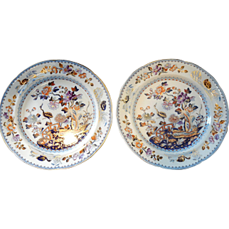 Pair of Davenport Ironstone Plates