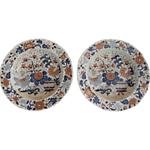 Pair of Mason's Ironstone Japan Pattern Soup Bowls