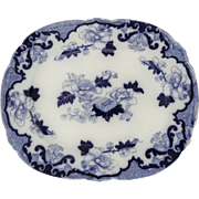 Staffordshire Flow Blue Platter by Cauldon